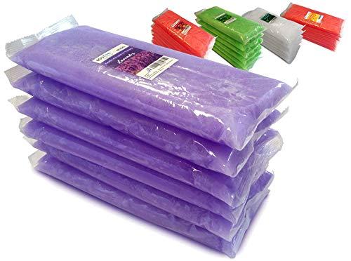 Boston Tech BE106-A Pura cera di paraffina 3 Kg. 6 blocchi da 500g C / u. Ideale per qualsiasi bagno di paraffina. Uso terapeutico ed estetico. 4 diversi aromi. Aroma di lavanda