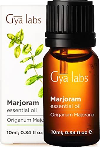 Gya Labs Olio essenziale di maggiorana per alleviare lo stress e alleviare il dolore - Ottimo per mal di testa e sonno - Grado terapeutico puro al 100% per aromaterapia - 10 ml