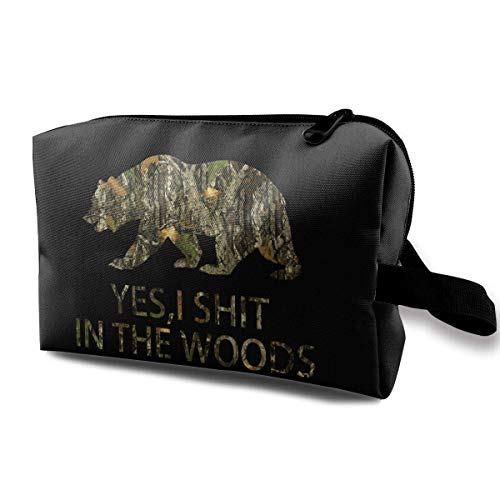 Bear Hunting Camo Multifunction Travel Makeup Bags Toiletry Bag Pen Organizers with Zipper
