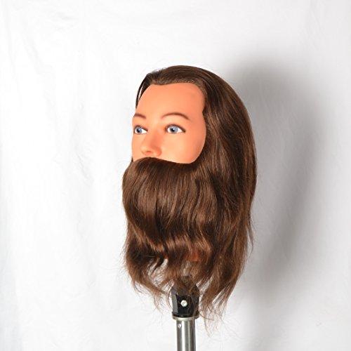 STRUMENTI PER CAPELLI Testa di addestramento per manichini maschili per tecniche di barbiere / parrucchiere + PINZA GRATUITA