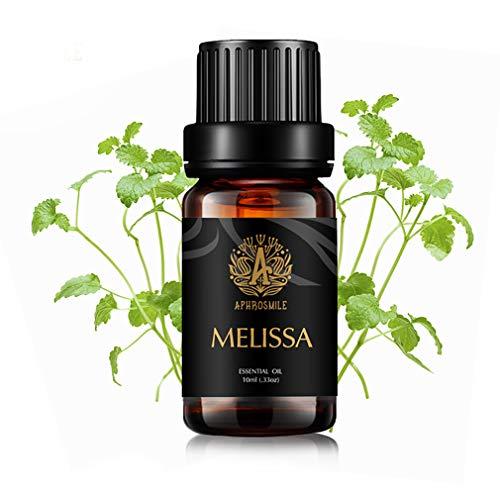 Aromaterapia Melissa olio essenziale per diffusore, 100% Pure Melissa olio essenziale per massaggi, terapeutico Grade Melissa olio essenziale per umidificatore
