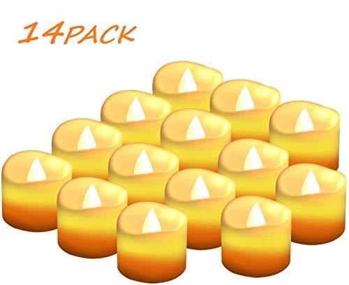 Candele a LED Senza Fiamma Portò Candele Flickering Flameless,per Decorazione di Casa Camera Natale Partito Matrimoni Compleann 14pack