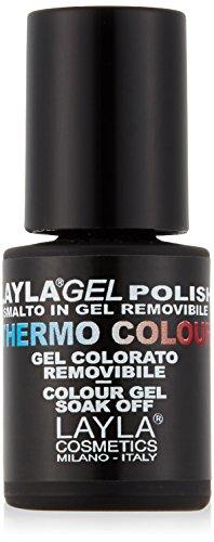 Layla Cosmetics Laylagel Polish Thermo Smalto Semipermanente per Unghie con Lampada UV, 1 Confezione da 10 ml, Colore N°3