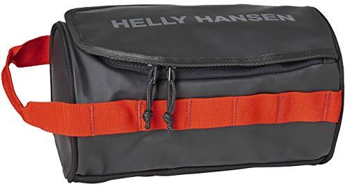 Helly Hansen HH WASH BAG 2, Di Cui Avere Bisogno Unisex Adulto, Ebony / Cherry Tomato, Taglia unica