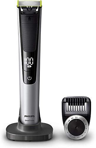Philips QP6520/30 OneBlade Pro, Rade, Regola e Rifinisce con Pettine di Precisione con 14 Impostazioni di Lunghezza, 90 minuti di Utilizzo