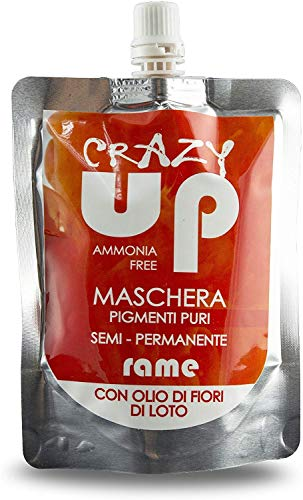 Crazy Up Maschera Colorante Senza Ammoniaca Semipermanente per Capelli - Rame - 200 ml