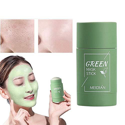 Green Tea Sticks Mask Maschera al tè Verde,Potente Maschera all'argilla Purificante Al tè verde Controllo dell'olio per la Pulizia Profonda Rimozione dei Punti Neri per Tutti i tipi di Pelle