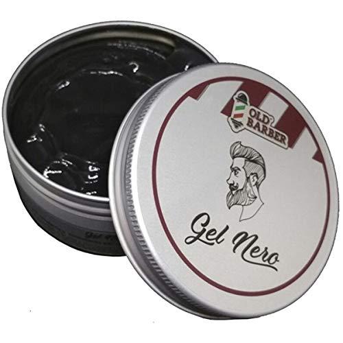 gel nero colorante modellante - black gel  per capelli da uomo