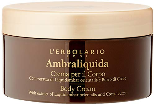 L'Erbolario, Crema Corpo Ambraliquida, Trattamento Emolliente e Tonificante, 250 ml