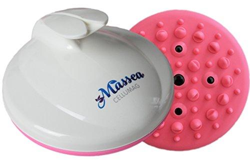 CelluMag, spazzola per il massaggio anti-cellulite con magneti, contro la pelle a buccia d'arancio,per la pelle tesa, i massaggi, il benessere e la bellezza (rosa)
