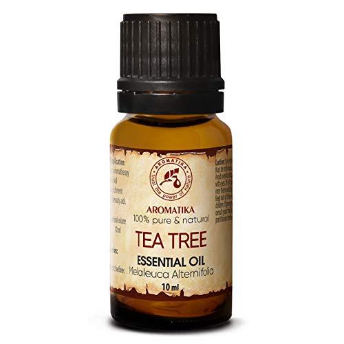 Olio Essenziale dell'Albero del Tè 10ml - Melaleuca Alternifolia Leaf Oil - Australiano - Naturale e Puro al 100% - Aromaterapia - Rilassamento - Diffusore - Lampada Aromatica - Cura del Corpo