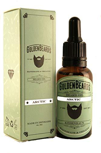 Golden Beards Olio da Barba per Uomo ARCTIC - Olio Cura Barba - Cura Naturale Della Barba - 100% Naturale & Organico | Semellino di menta piperita + arancia + tè di tè