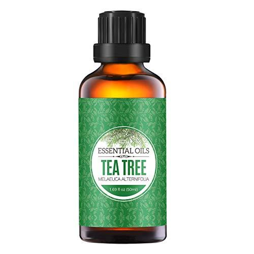 Homasy 50ml Olio Essenziale, 100% puro e Naturale Olio Essenziale per Diffusori Ultrasuoni, Naturali Oli Essenziali per massaggi e aiuto per il sonno, Migliore per il Regalo-Tee Tree