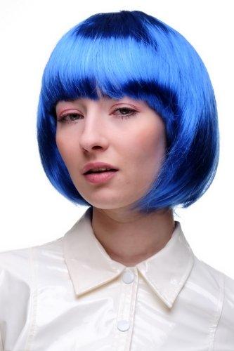 Wig Me Up - Bellissimo Parrucca Da Party, Caschetto, Blu, Disco, Corta & Impertinente