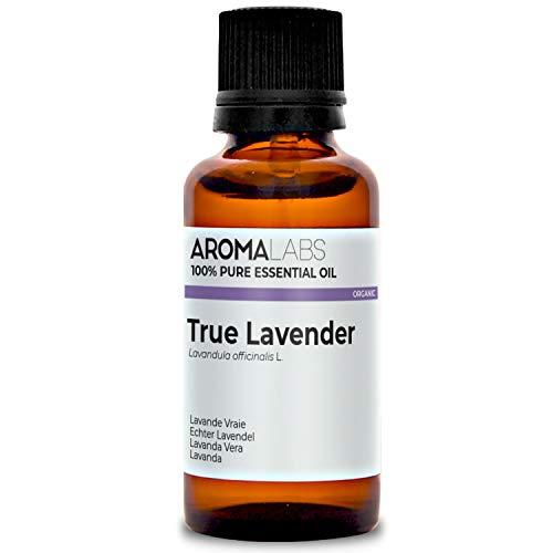 Aroma Labs Lavanda Vera Bio - 30Ml - Olio Essenziale Bio E Naturale Al 100% - Qualità Verificata Mediante Cromatografia - Aroma Labs - 30 ml