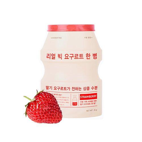 APIEU Real Big Yogurt One Bottle (Strawberry) Hydrating Care, maschera per il viso, 1 pezzo