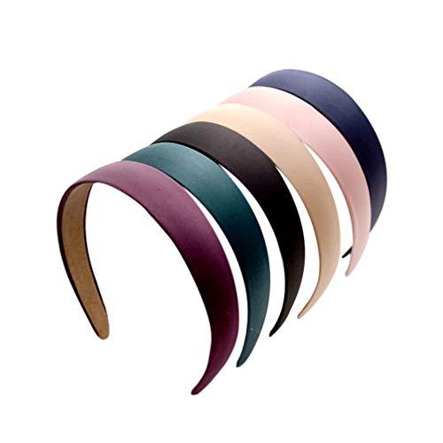 6 fasce elastiche larghe per capelli alla moda, per donne e ragazze
