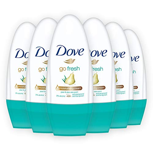 Dove Go Fresh Pera Roll-On 50 ml, Confezione da 6