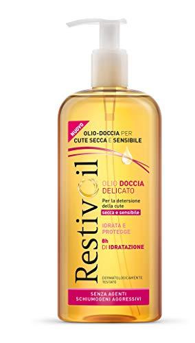 Restivoil Olio-Doccia Delicato per Tutti i Tipi di Pelle, Anche per Cute Secca e Sensibile, Senza Agenti Schiumogeni Aggressivi - 400 ml
