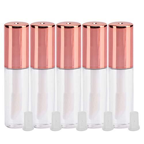 Tubo per lucidalabbra da 1,2 ml, contenitore cosmetico fai-da-te con tappo per bottiglia, bottiglia per mini rossetto, bottiglia vuota riutilizzabile, 10 pezzi, oro rosa