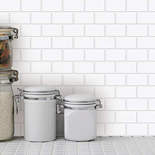 Art3d Piastrelle autoadesive paraspruzzi per cucina, 30,5 x 30,5 cm
