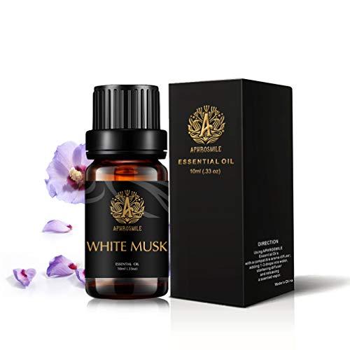 Muschio Bianco olio essenziale per diffusore, terapeutico Grade muschio bianco profumato olio, 100% Pure Aromaterapia Olio essenziale Muschio Bianco Profumo per massaggi, umidificatore 0,33oz-10ml