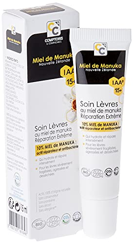 Comptoirs Et Compagnies Biologico 10% Iaa15+ Manuka Honey Extreme Repair Lip Care - 15 Ml
