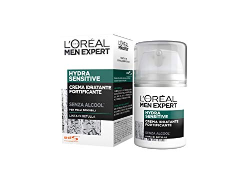 L'ORÉAL Paris Men Expert Hydra Sensitive Crema Idratante Pelli Sensibili, 50 ml
