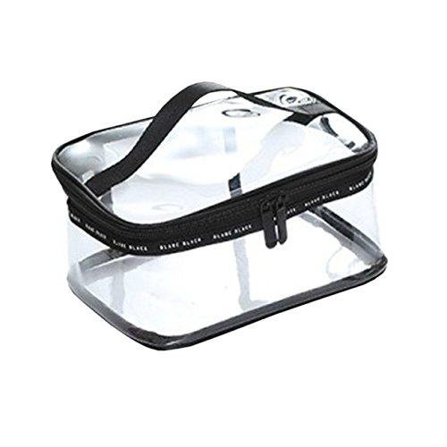Ezstax - Set di trousse da viaggio per trucchi e cosmetici, trasparente trasparente transparent square shape