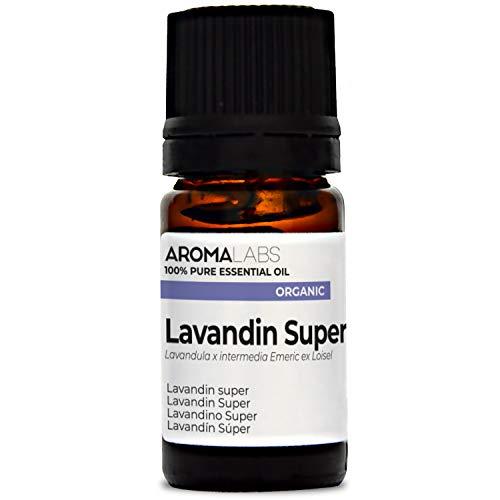 Aroma Labs Lavandino Super Bio - 5Ml - Olio Essenziale Bio E Naturale Al 100% - Qualità Verificata Mediante Cromatografia - Aroma Labs - 5 ml