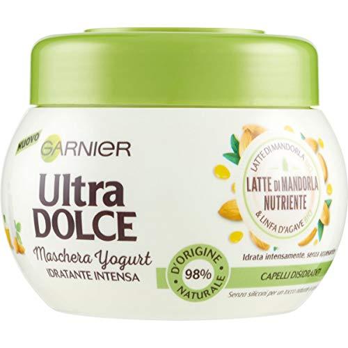 Garnier Maschera Ultra Dolce Latte di Mandorla, Idrata senza Appesantire, 300 ml