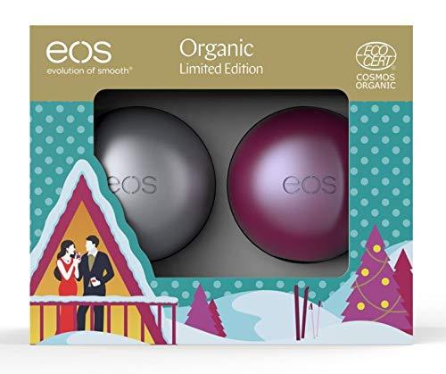 EOS–Evolution of Smooth Duo Organic Sugar Plum e prima neve balsamo per le labbra