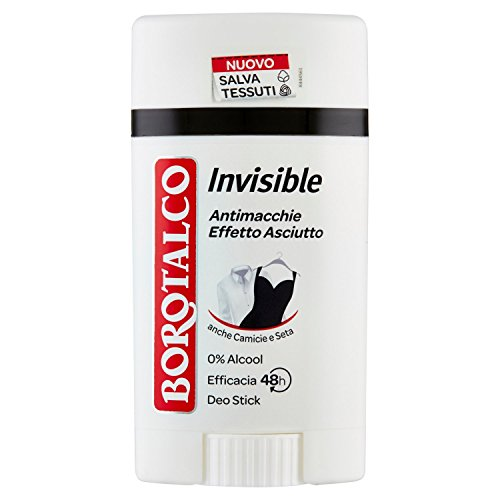 Borotalco - Deo Stick Roll, Invisible, Antimacchie Gialle E Bianche - 40 Ml