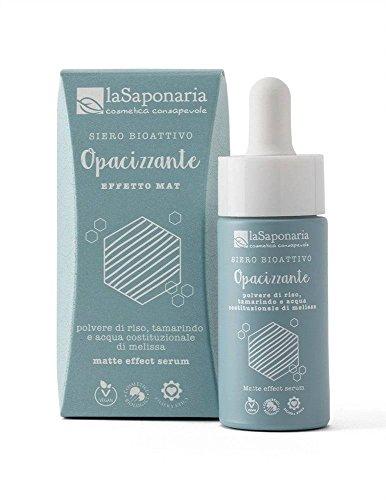 LA SAPONARIA - Siero Bioattivo Opacizzante - Ecobio - Per contrastare la pelle lucida - Regola la produzione di sebo - Effetto mat - Vegan – 15ml
