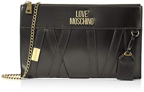 Love Moschino JC4278PP0BKS0, Borsa A Spalla Donna, Nero, Normale