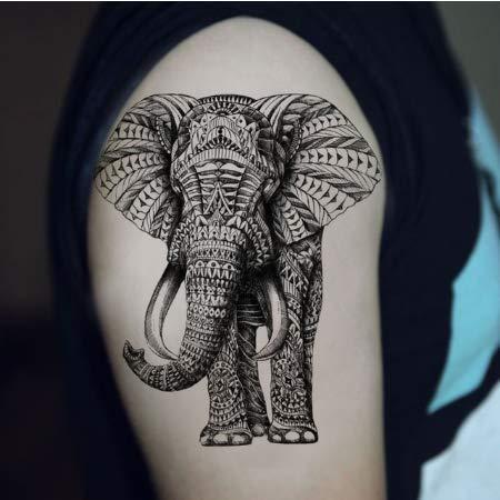 nobrand Adesivo Tatuaggio temporaneo Elefante Impermeabile Uomini Adulti Donne Spalle Spalle Tatuaggi Finti