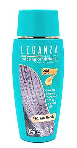 Leganza colorare condizionatore per capelli a colori 94 Biondo cenere con 7 oli naturali ammoniaca e Paraben Free