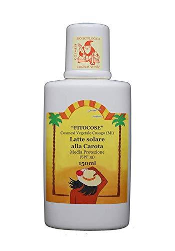 latte solare alla carota media protezione - 150 ml