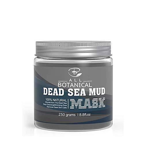Maschera viso al fango del Mar Morto 250 g - Minerali naturali al 100% - Ridurre al minimo i pori, rimuovere i punti neri, ridurre l'acne e le rughe per uomini e donne