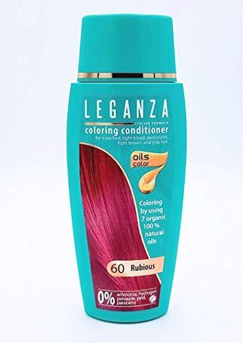 Balsamo Condizionatori Colorazione per Capelli Color 60 Rosso Rubino con 7 Oli Naturale Senza Ammoniaca e Parabeni