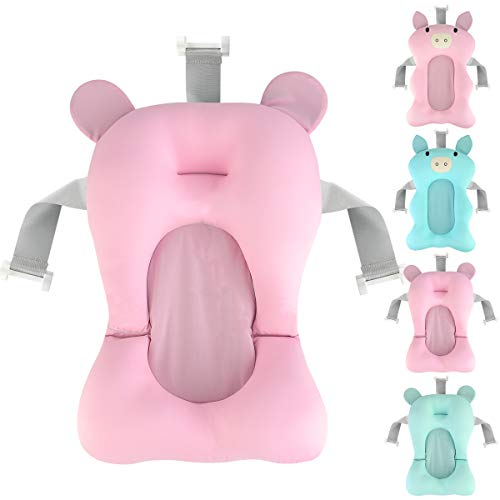 Cuscino per Sedile da Bagno Vasca da Bagno per Neonato Cuscino per Cuscino Supporto per Sedile da Bagno Rete Galleggiante Antiscivolo Cuscino da Bagno E Lettino Baby Shower