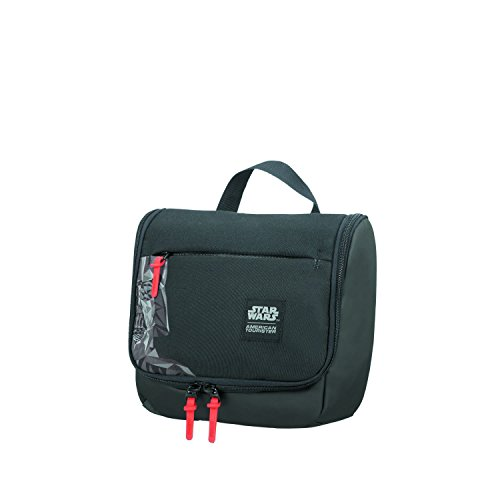 American Tourister Grab'N'Go Disney - Beauty Case, 27 cm, 7 L, Nero (Darth Vader Geometric)