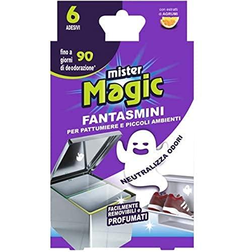 Mr Magic, Zero Odori per Pattumiere e Piccoli Ambienti, Pratici Adesivi per la Rimozione dei Cattivi Odori, con Estratti di Agrumi