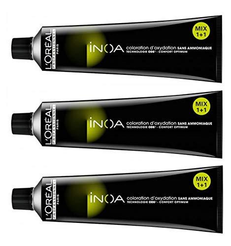 L'Oreal - Tinta senza ammoniaca Inoa n. 8 biondo chiaro 3x 60