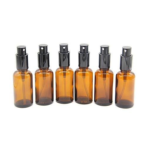 Yizhao,Bottiglie spray,30ml bottiglie di vetro ambrato con spray atomizzatore per cosmetici, aromaterapia, medicina, olio essenziale, fragranza, profumo - 6 Pcs