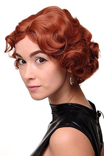 WIG ME UP - Parrucca Donna Anni 20 Swing Bob Ondulati Rosso Rosso ramato circa 25 cm A4002-350