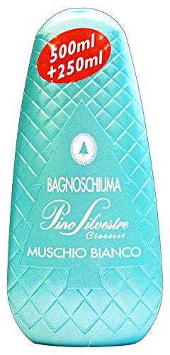 Set 12 PINO SILVESTRE Bagno Muschio Bianco 750 Ml Prodotto Bagno E Doccia