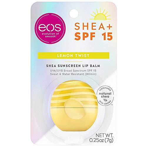 eos Active Lip Balm Sphere - Lemon Twist   SPF 15 e resistente all'acqua   7,1 oz