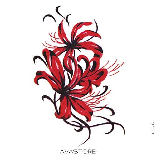 AVASTORE - Tatuaggio temporaneo da donna, fiore di giglio, motivo: giglio