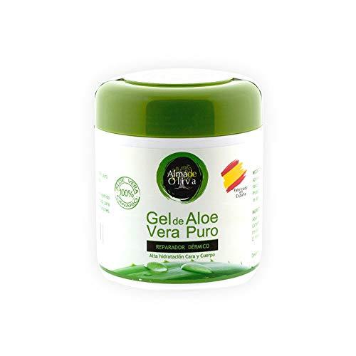 Gel Aloe Vera - Crema Aloe Vera Gel Idratante Aloe Vera, 100% Isole Canarie 500 ml. Crema riparatrice Corpo/Viso/Mani per pelle screpolata. Crema Uomo - Donna per ustioni, dopobarba, doposole